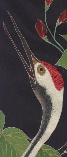 detail of silk Kurotomesode, Late-Meiji era (1890-1911), Yorke Antique Textiles