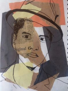 Andy Warhol inspired mixed media portrait. Year 10 GCSE.