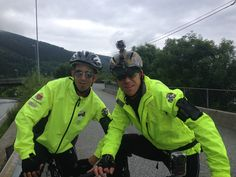 My good friend and i :-) out biking from Bergen to Norway