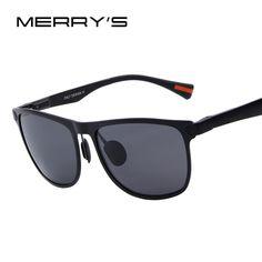 cool MERRY'S Men Polarized Sunglasses Aluminum Frame Fashion Sunglasses 21.86
