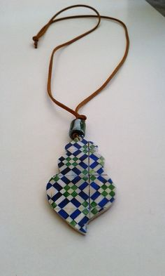 Colar inspirado na Azulejaria portuguesa