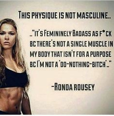 Fit Girl Motivation, Fitness Motivation, Ronda Jean Rousey, Physique, Muscle, Workout, Memes, Physics, Body Types