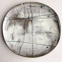 "I took a two week ceramics workshop at Haystack a few years ago and began the development of this design in my work...hence the name I give these plates and platters...""Haystack Design"". #ceramics #lariwashburnceramics #lariwashburn #madeinmaine #madebyhand #handmade"