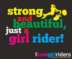 Strong and beautiful, just a girl rider! - #ilovegirlriders #iamagirlrider