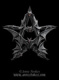 Bat Pentagram Pictures, Images and Photos