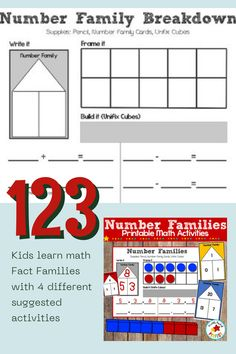 Make learning math fun with this set that includes numbers 0-20. This set helps students learn math Fact Families with 4 different suggested activities or you can use the set to create your own. Fact families are a great way for students to understand number relationships and help them solve addition and subtraction problems. This set helps students learn fact families from numbers 0-20. Teaching Schools, Teaching Math, Elementary Schools, Teaching Ideas, How To Start Homeschooling, Homeschool Math, Fun Math, Math Activities, Learning Numbers Preschool