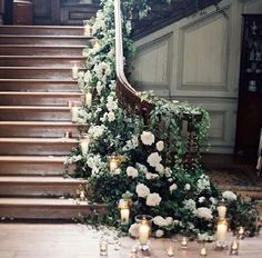 house or wedding hall entrance idea, floral inspiration