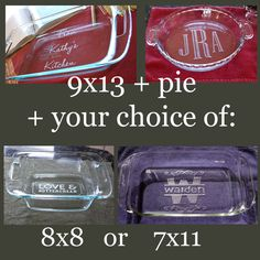 great gift idea glass baking dishes frosted