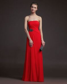Gorgeous 2014 Bridesmaid Dresses from Aire Barcelona, a red strapless stunner