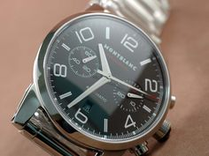Mont Blanc Timewalker Pilot Chrono SS Black. Replacement for my Tag Heuer?