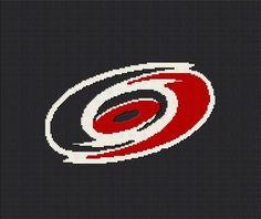 $5 - Carolina Hurricanes - NHL Hockey - Crochet Blanket Afghan Graphghan Pattern
