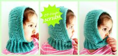 Bonnet Crochet Tutorial - I think this is adorable, can actually be made any size.  I might use the ribbing around the face also for a more fitting round.