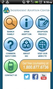 Announcing the Independent Adoption Center's Mobile Apps for iOS, Android