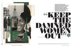 Dartmouth Alumni Magazine Feature Spread Cool Magazine, Beauty Magazine, Vogue Magazine, Graphic Design Magazine, Magazine Layout Design, Magazine Layouts, Editorial Design Magazine, Layout Inspiration, Graphic Design Inspiration