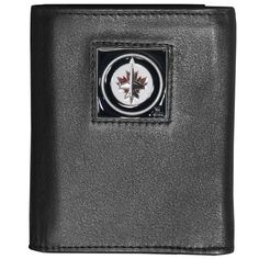 """Checkout our #LicensedGear products FREE SHIPPING + 10% OFF Coupon Code """"Official"""" Winnipeg Jets Deluxe Leather Tri-fold Wallet - Officially licensed NHL product Genuine fine grain leather wallet Ample credit card slots Windowed ID slot Metal Winnipeg Jets emblem with enameled team colors - Price: $27.00. Buy now at https://officiallylicensedgear.com/winnipeg-jets-deluxe-leather-tri-fold-wallet-htr155bx"""
