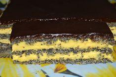 Prajitura cu foi de mac, vanilie si ciocolata | MiremircMiremirc Tiramisu, Cake Recipes, Cheesecake, Ethnic Recipes, Desserts, Food, Cakes, Sweets, Food And Drinks