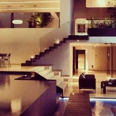Absolutely gorgeously Perfect!!!!!!! Tha whole wall window,very modern,open,spacious,different,marble, floor plan,live plantz,lighting...Love IT!! Wunt IT!! Xoxoxoxo