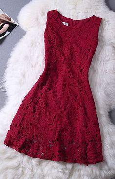 Elegant Lace Homecoming Dress,sleeveless prom dress,burgundy Homecoming dress