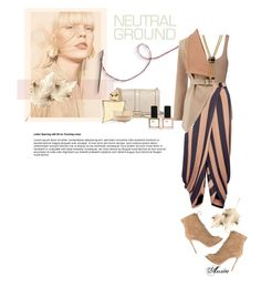 """Neutral set"" by wodecai ❤ liked on Polyvore featuring Theory, STELLA McCARTNEY, Oasis, Rebecca Minkoff, Gianvito Rossi, ncLA, Hermès, Eve Lom and Ashley Pittman"