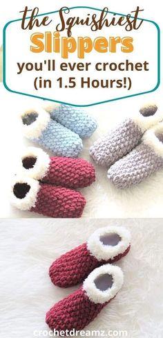 Easy Crochet Slippers, Crochet Slipper Boots, Crochet Socks Pattern, Crochet Patterns, Crochet Accessories Free Pattern, Knitted Slippers, Blanket Patterns, Craft Patterns, Chunky Crochet