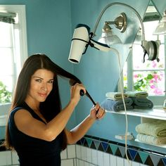 Hair dryer holder I think this is the most genius thing ever