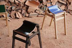 Discarded Japanese roofing tiles reborn as ergonomic bar stools   MNN - Mother Nature Network