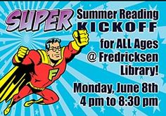 Join us at our first ever Summer Reading Kickoff for ALL AGES on Monday, June 8!