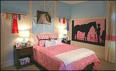 Little Cowgirl Room Decorating Ideas   equestrian theme bedrooms-horse theme bedroom ideas-3