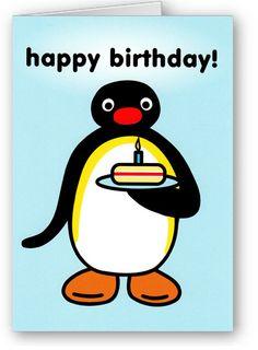 Pingu sign/card