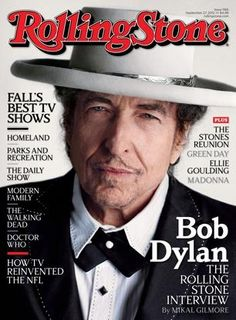 Bob Dylan on cover of Rolling Stone Magazine (on newstands September 14, 2012)