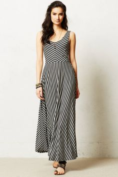 """""""Easy and oh-so-breezy, this swingy number from Puella is a must for your maxi dress rotation. We'd pair it with a denim jacket and three-day weekend.""""  This is such a beaaaaaautiful, thick, flowy maxi dress! Looks fantastic with a thick black belt (to hide the seam at the waist)."""