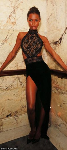 Black to basic: Jasmine Tookes and Izabel Goulart wowed in their glamorous black ensembles