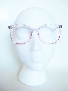 5ff7a8f9f91 Clear Pink Round Eyeglasses 1980s Bubblegum by OliverandAlexa Round  Eyeglasses