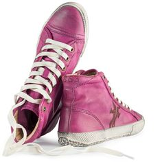 For the ladies -> Frye Dames Kira High Top Sneakers Fuchsia