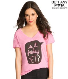 Friday V-Neck Graphic from Bethany Mota collection at Aeropostale