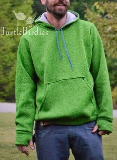 Sewing For Men - The Halftime Hoodie is the perfect sweatshirt for the men in your life. Loose-fitting with optional thumbhole cuffs. Perfect for you to steal too. Mens Sewing Patterns, Sewing Men, Sewing Clothes, Clothing Patterns, Men Clothes, Sewing Designs, Fall Sewing, Pattern Sewing, Clothing Ideas