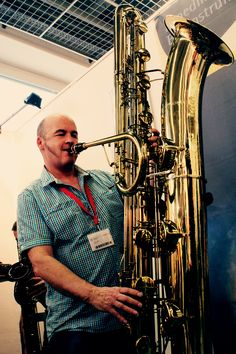 Colin playing the Contrabass Saxophone We've just ordered - Helena Saxophone For Sale, Best Saxophone, Saxophone Reeds, Soprano Saxophone, Saxophone Players, Contrabass Saxophone, Music Theory Lessons, Jazz Players, Saxophones