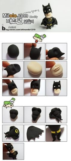 How to make Batman out of clay.  #DarkKightRises