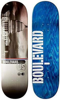 Blvd Skateboards Cityscape Team Deck, 8.5-Inch: Pro quality 7 ply Canadian maple skateboard deck Great deck for skaters just starting out…