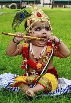 Krishna Ashtami Celebrations in India Baby Krishna, Cute Krishna, Shiva, Lord Krishna, We Are The World, People Of The World, Baby Pictures, Baby Photos, Folklore