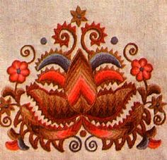 Hungarian Folk Art | Importance of colors in folk arts - Hungarian embroidery.
