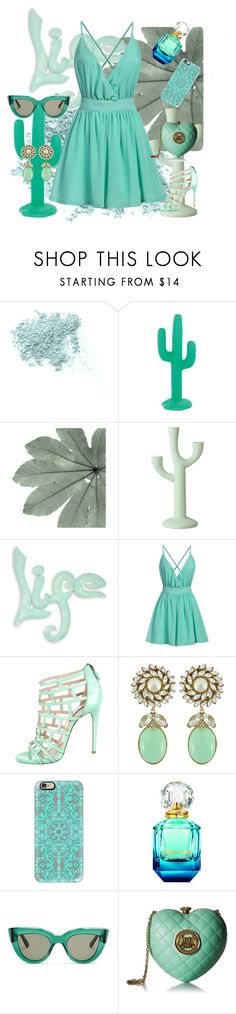 """""""MINT GREEN LIFE!"""" by jasmine-monro ❤ liked on Polyvore featuring Bare Escentuals, Sunnylife, Bloomingville, NOVICA, Ruthie Davis, Ciner, Casetify, E L L E R Y and Love Moschino"""