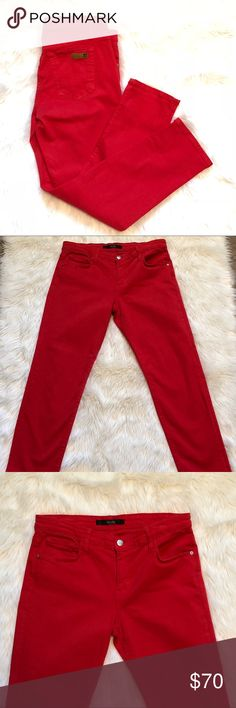 Fiery Red Bright Red Joe's Jeans size 28 Fiery Red Bright Red Joe's Jeans size 28. In excellent condition. Color still looks excellent. Measurements in pictures. Reasonable offers accepted. Joe's Jeans Jeans Skinny