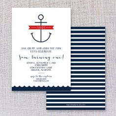 Nautical Birthday Invite by thepinwheelpress on Etsy, $15.00
