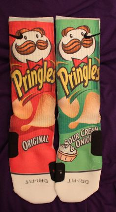 Pringles Custom Nike Elite Socks Parody by LuxuryElites on Etsy, $42.99