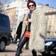 the fabulous #CatherineBaba doin her thang in Milan.
