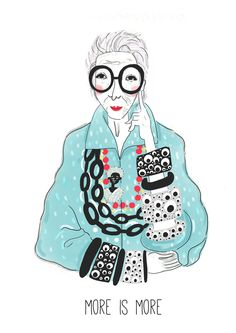 Iris Apfel Illustration, More Is More, From Baba Souk