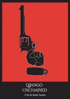 django-unchained-fan-poster-gun-red.jpg (424×600)