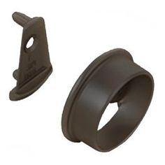 Two Piece Closet Rod Flange   Oil Rubbed Bronze