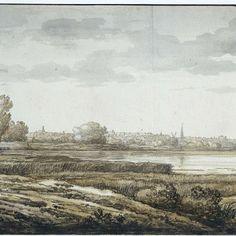 Gezicht op Dordrecht, Aelbert Cuyp, 1630 - 1691 - Rijksmuseum
